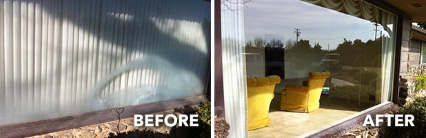 hard water stain removal windows glass restoration